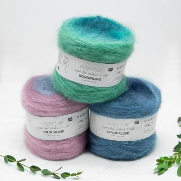 Rico Essentials Super Kid Mohair Loves Silk Colourlove (grey 001)